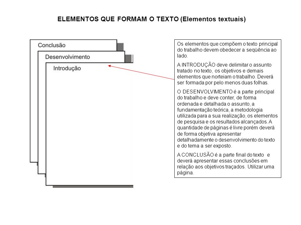ELEMENTOS QUE FORMAM O TEXTO (Elementos textuais)