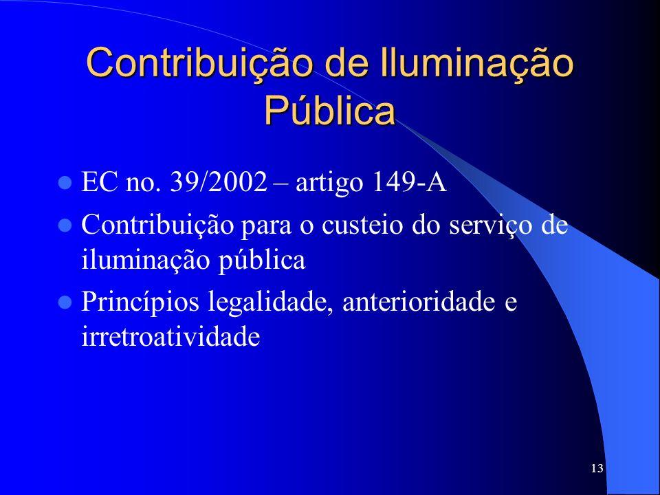 Contribuição de Iluminação Pública