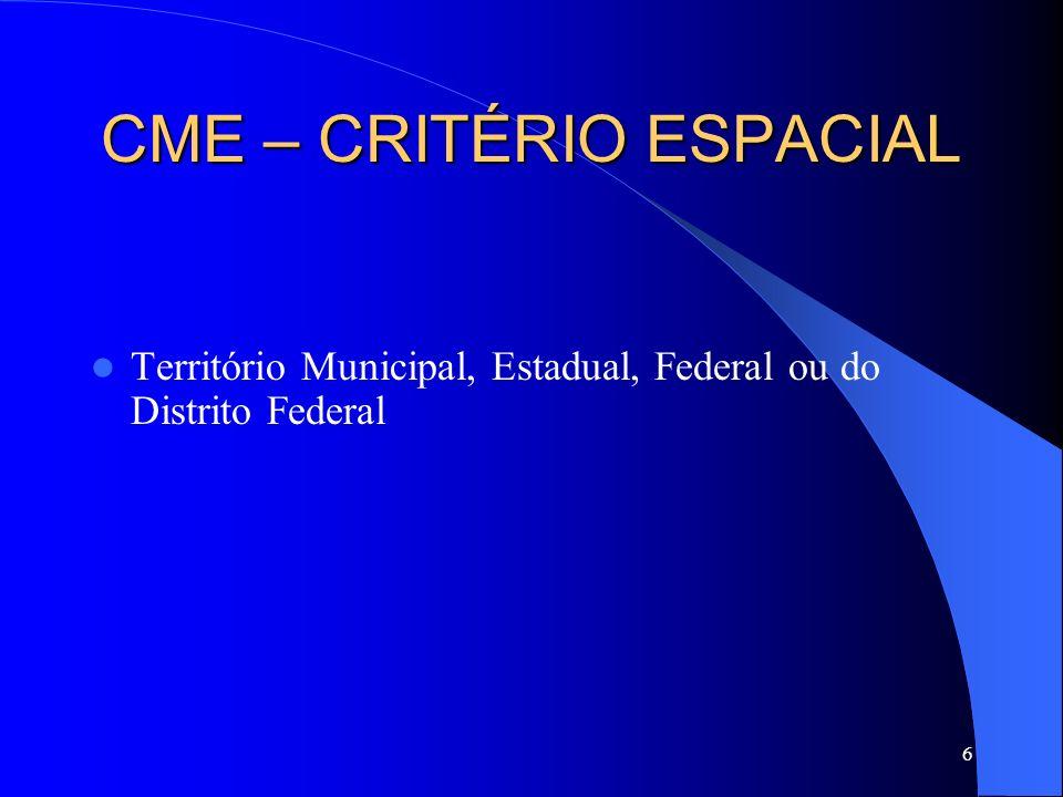 CME – CRITÉRIO ESPACIAL
