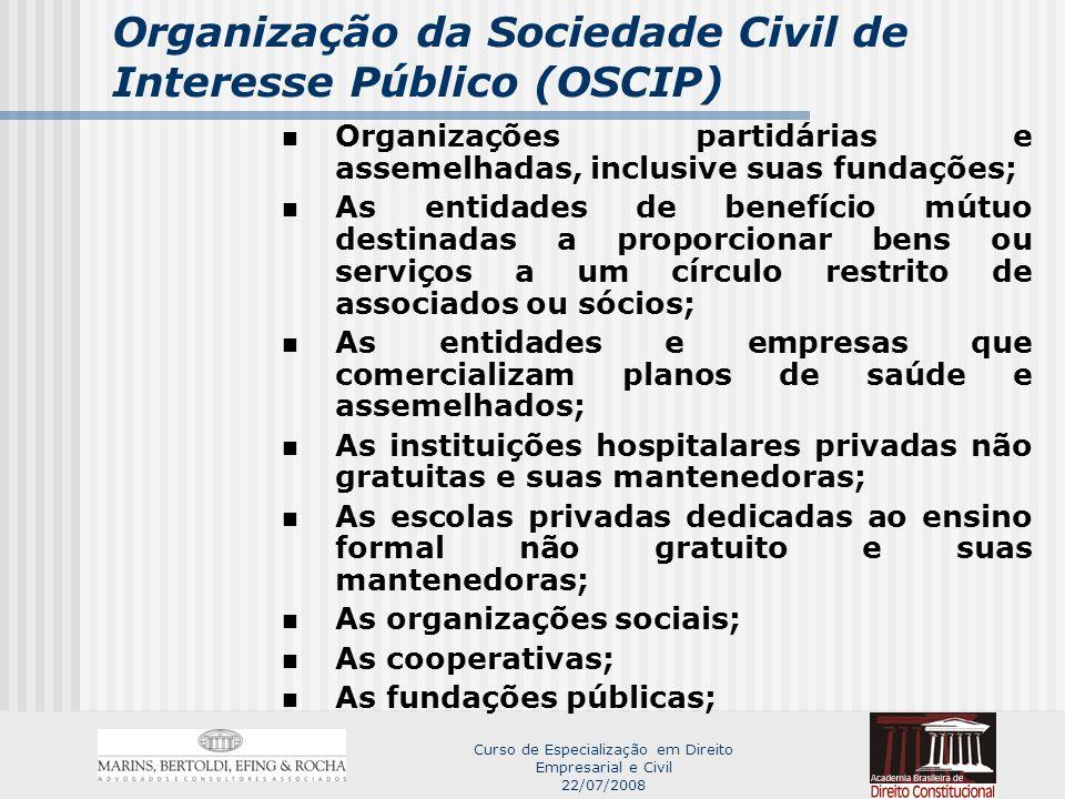 Curso de Especialização em Direito Empresarial e Civil