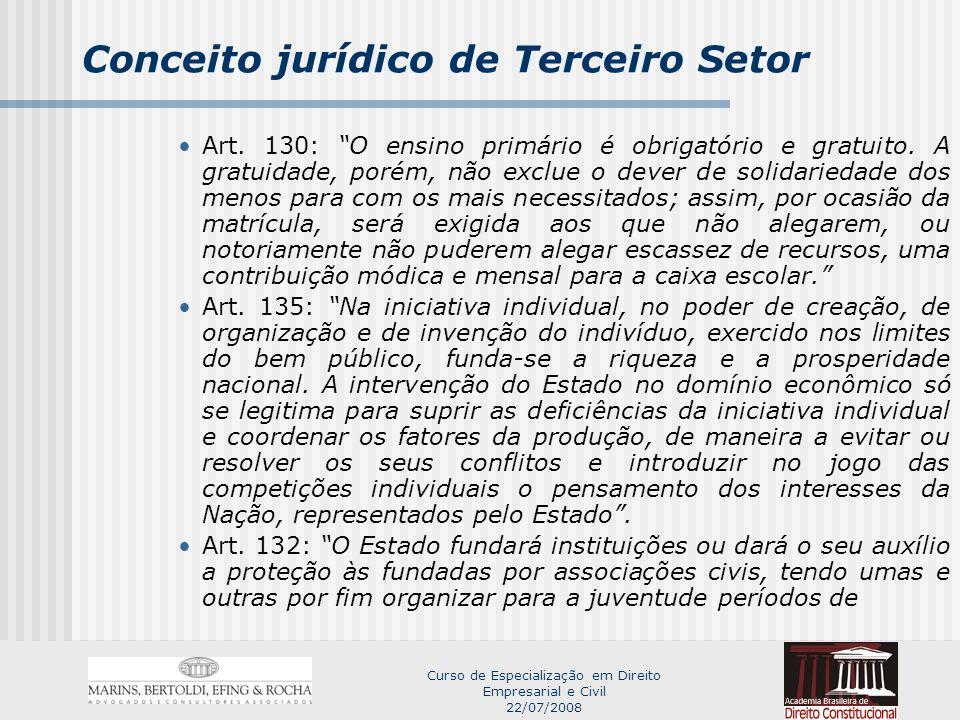 Conceito jurídico de Terceiro Setor