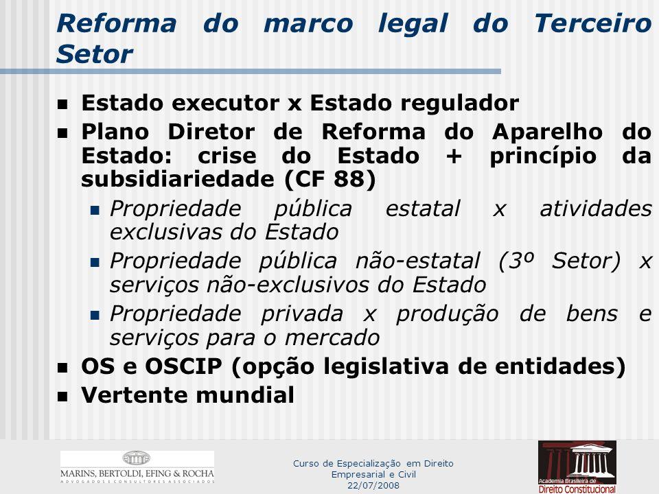 Reforma do marco legal do Terceiro Setor