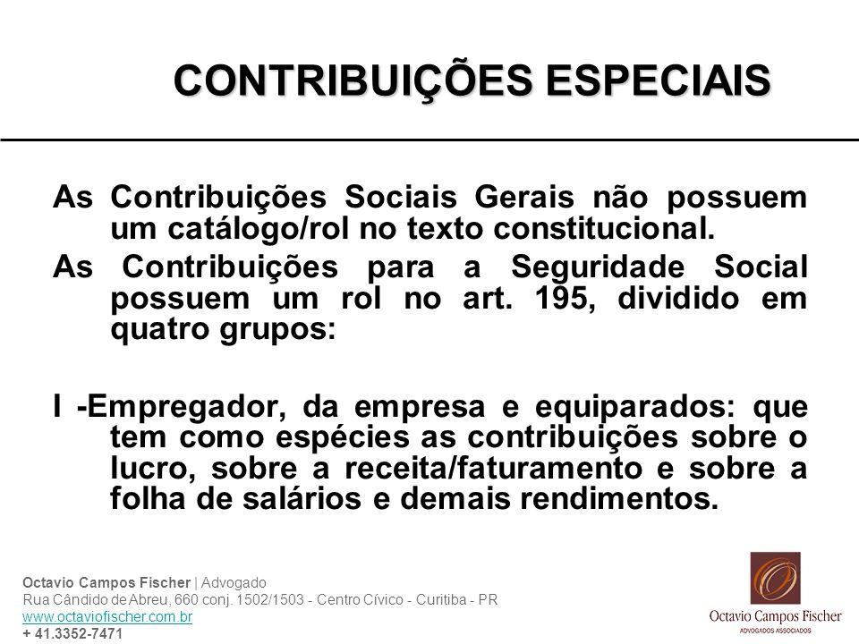 CONTRIBUIÇÕES ESPECIAIS