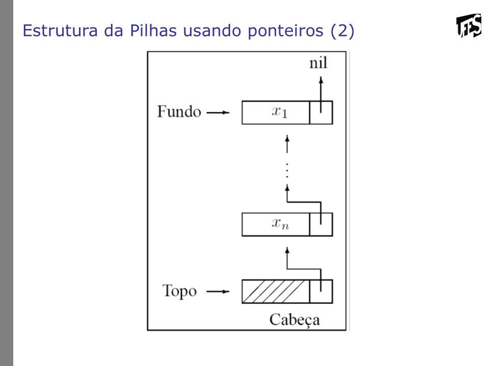 Estrutura da Pilhas usando ponteiros (2)