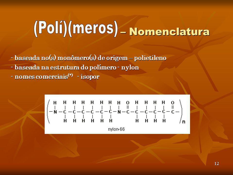 (Polí)(meros) – Nomenclatura