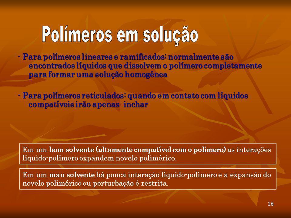 Polímeros em solução