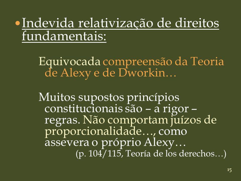 Indevida relativização de direitos fundamentais: