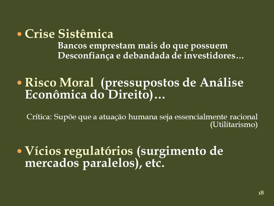Risco Moral (pressupostos de Análise Econômica do Direito)…