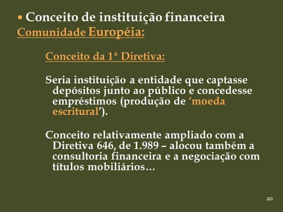 Conceito de instituição financeira