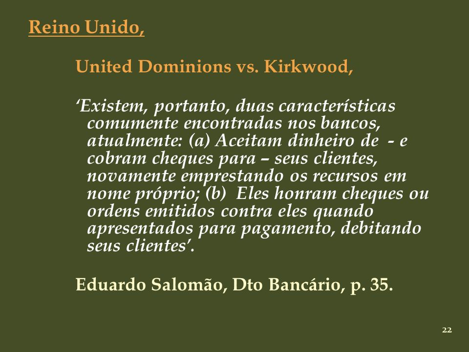 Reino Unido, United Dominions vs. Kirkwood,