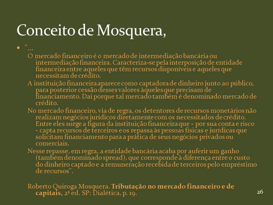 Conceito de Mosquera, ...