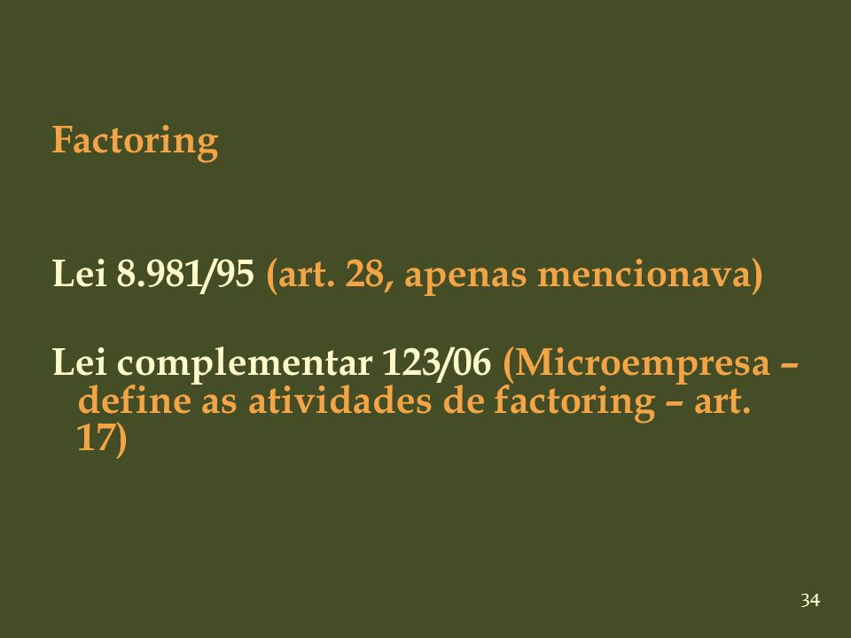 Factoring Lei 8.981/95 (art.