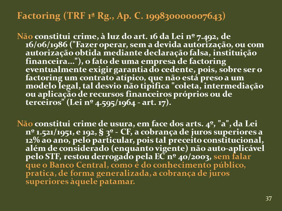 Factoring (TRF 1ª Rg., Ap. C. 199830000007643)