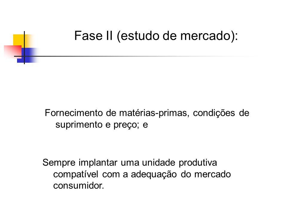 Fase II (estudo de mercado):