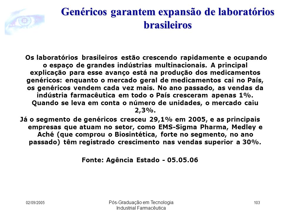 Genéricos garantem expansão de laboratórios brasileiros