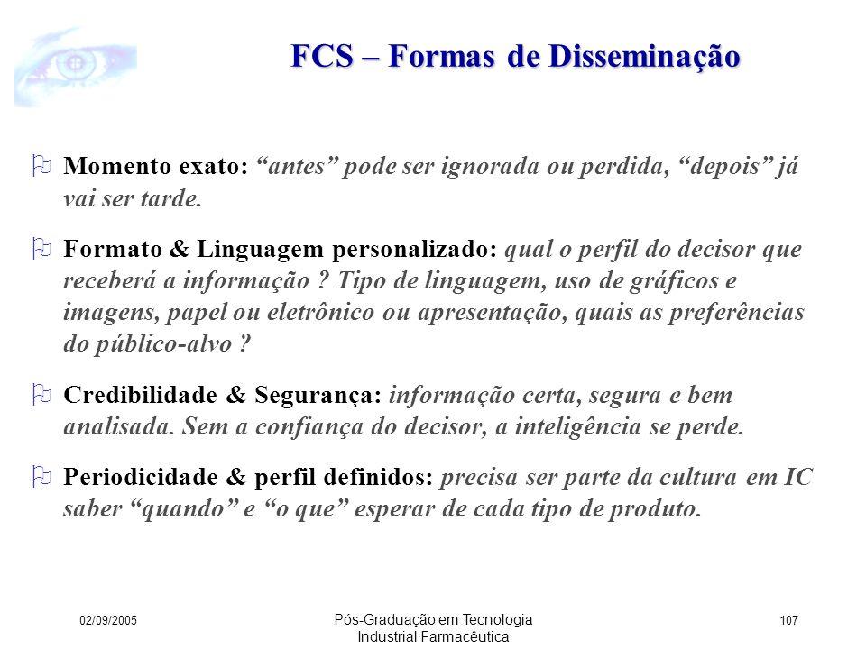 FCS – Formas de Disseminação