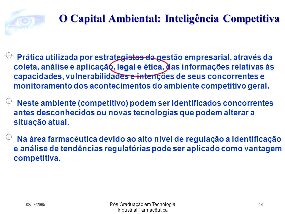 O Capital Ambiental: Inteligência Competitiva