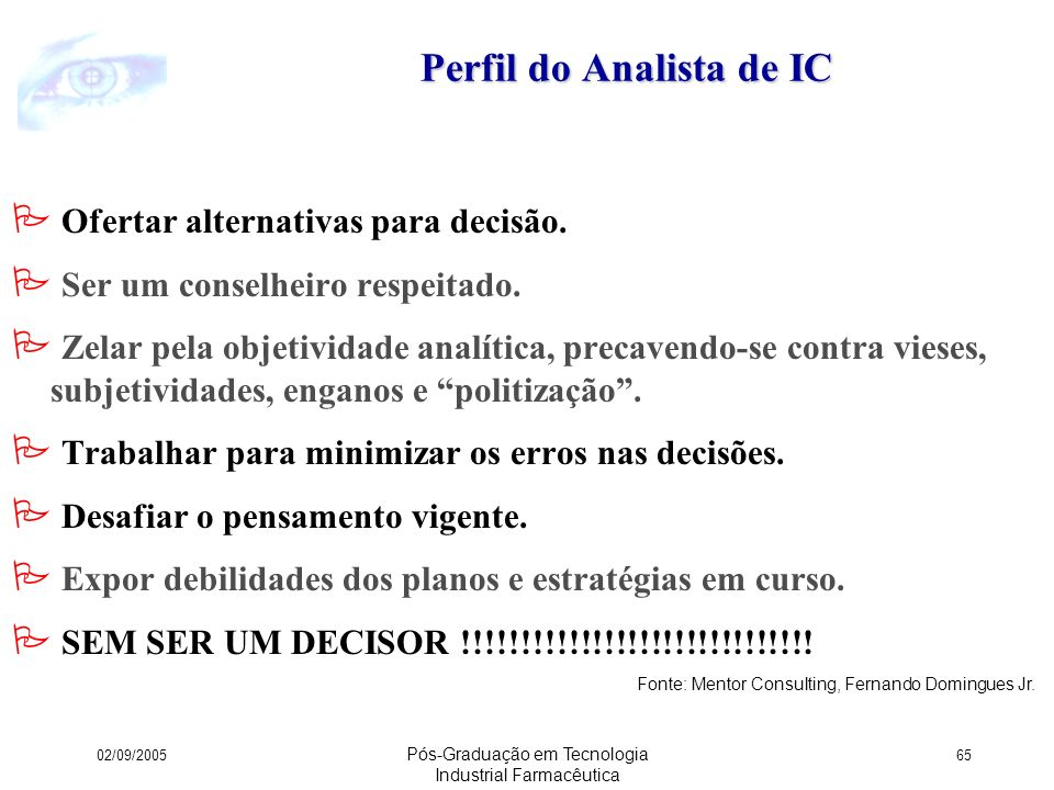 Perfil do Analista de IC