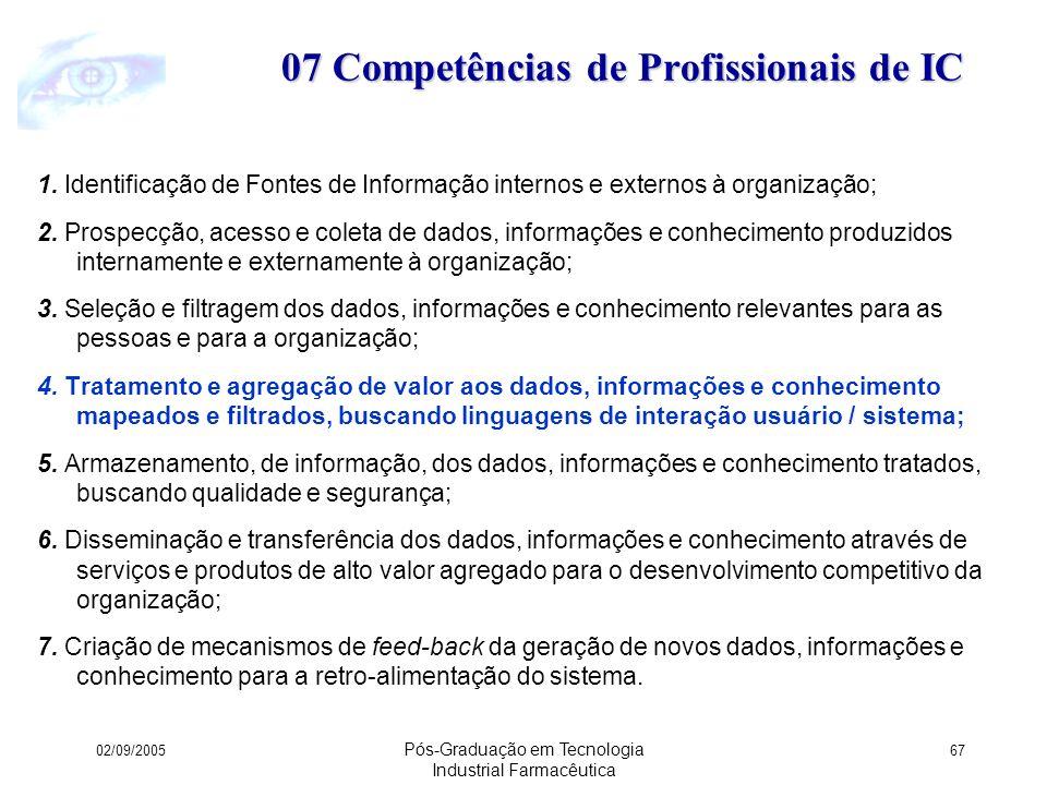 07 Competências de Profissionais de IC