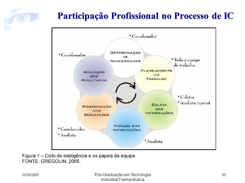 Participação Profissional no Processo de IC