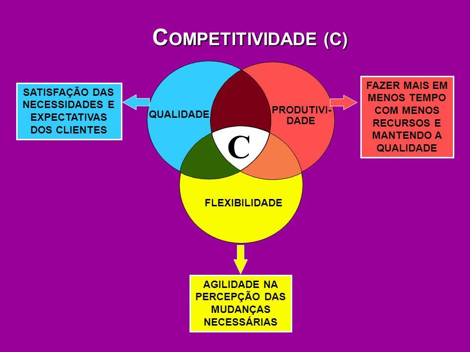 C COMPETITIVIDADE (C) QUALIDADE PRODUTIVI- DADE FLEXIBILIDADE