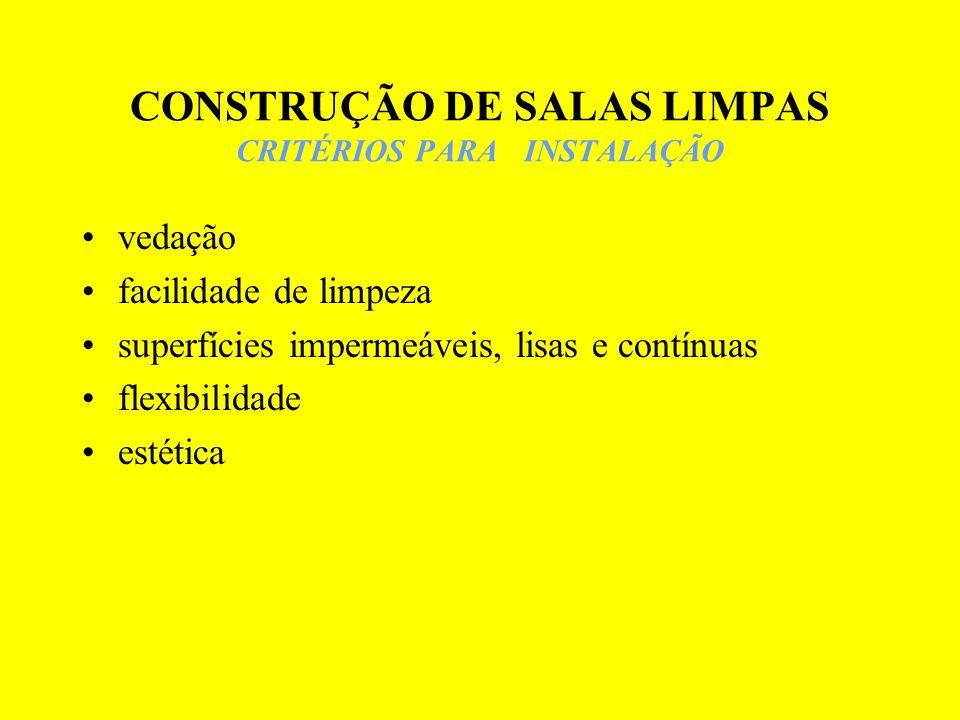 CONSTRUÇÃO DE SALAS LIMPAS CRITÉRIOS PARA INSTALAÇÃO