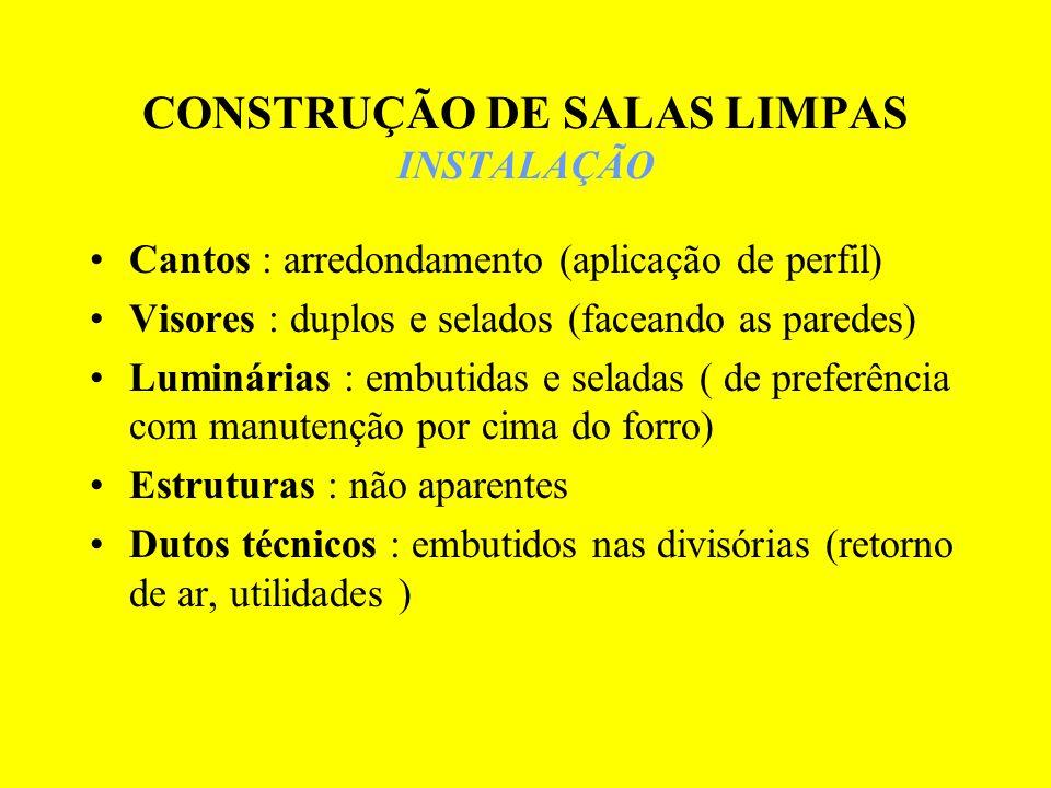 CONSTRUÇÃO DE SALAS LIMPAS INSTALAÇÃO