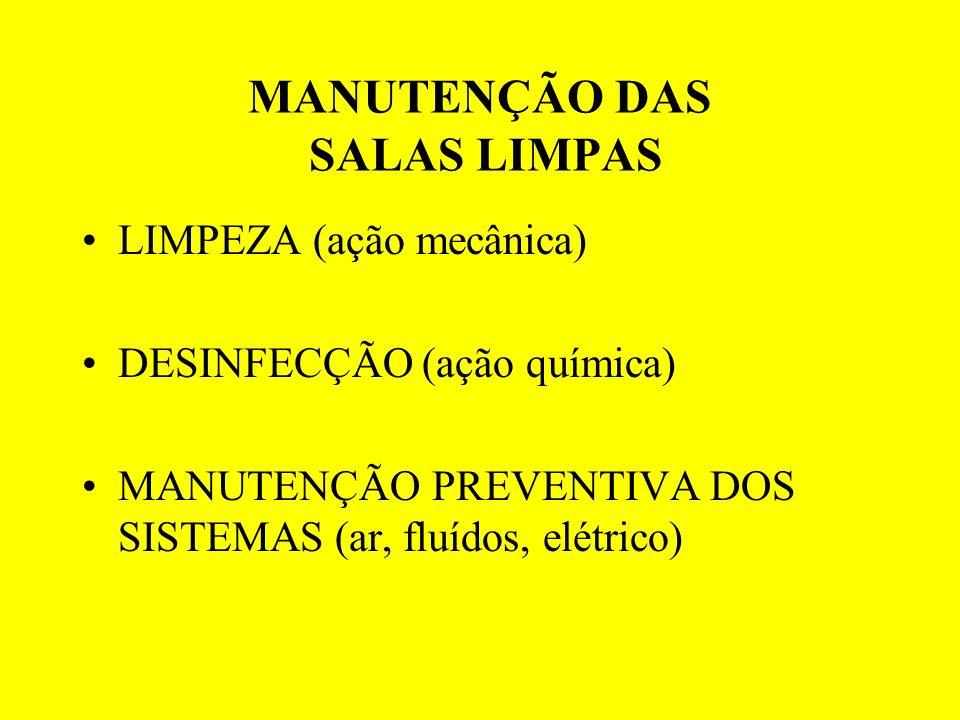 MANUTENÇÃO DAS SALAS LIMPAS