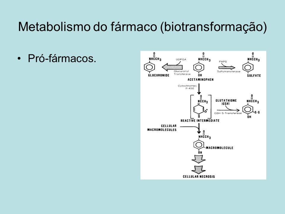 Metabolismo do fármaco (biotransformação)