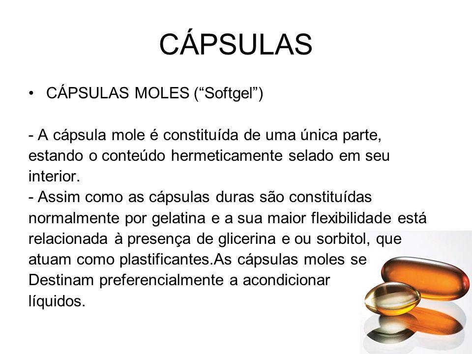 CÁPSULAS CÁPSULAS MOLES ( Softgel )