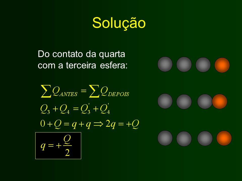 Solução Do contato da quarta com a terceira esfera: