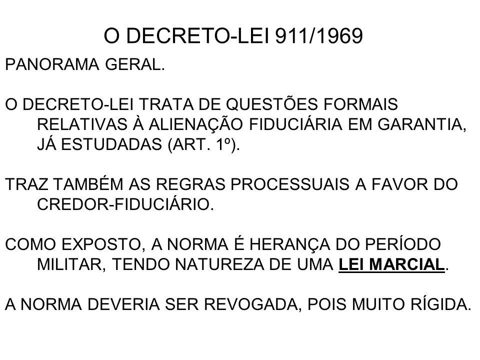 O DECRETO-LEI 911/1969 PANORAMA GERAL.