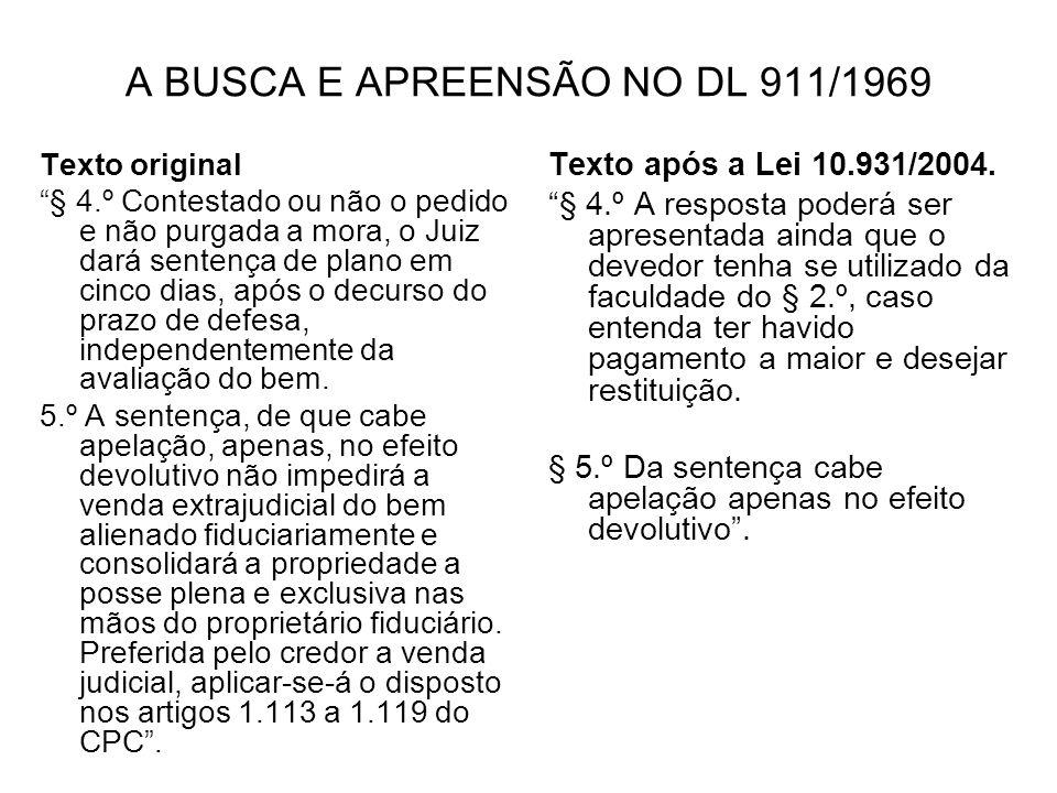 A BUSCA E APREENSÃO NO DL 911/1969