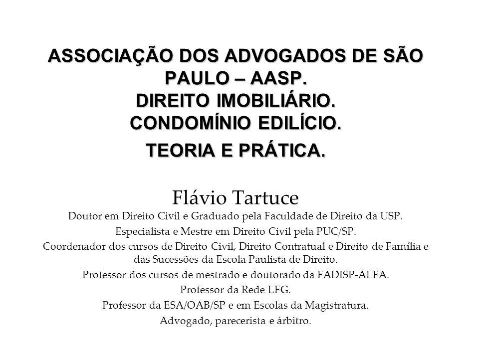 ASSOCIAÇÃO DOS ADVOGADOS DE SÃO PAULO – AASP. DIREITO IMOBILIÁRIO