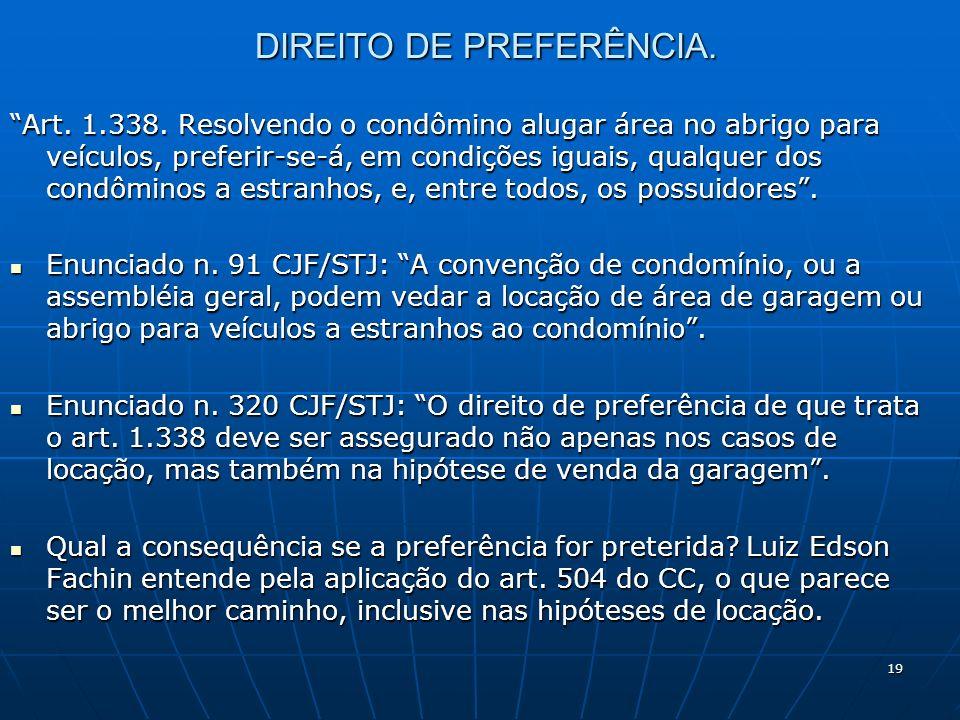 DIREITO DE PREFERÊNCIA.