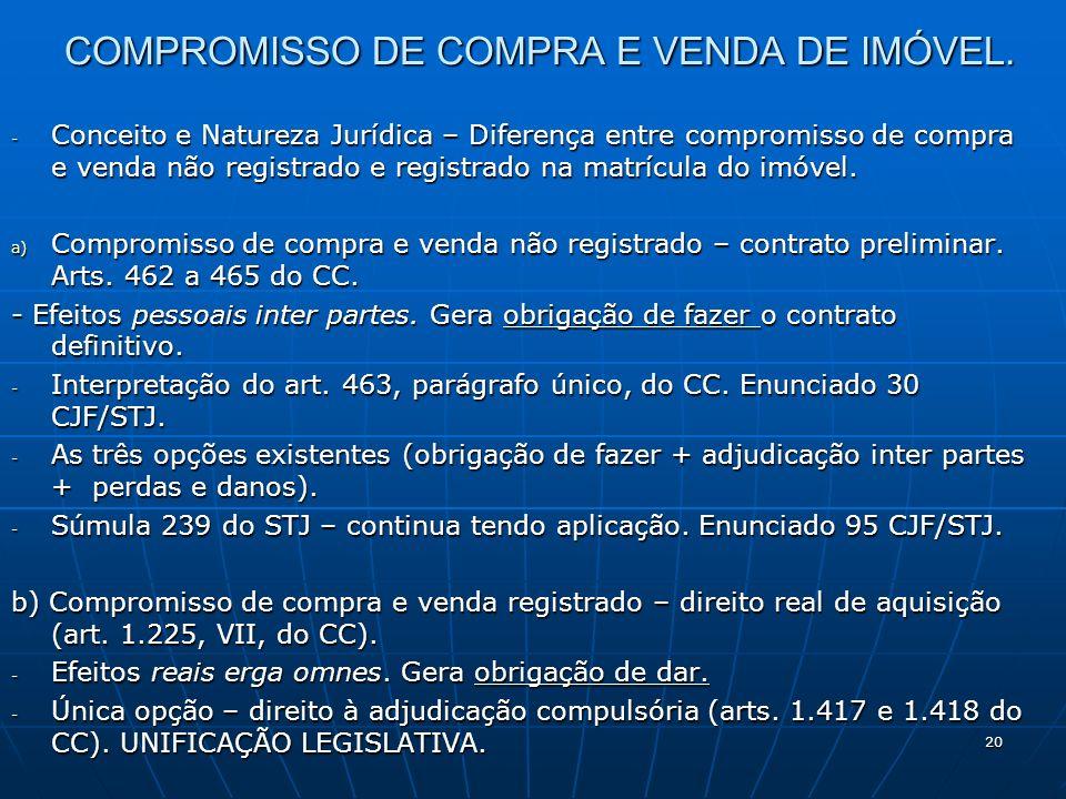 COMPROMISSO DE COMPRA E VENDA DE IMÓVEL.