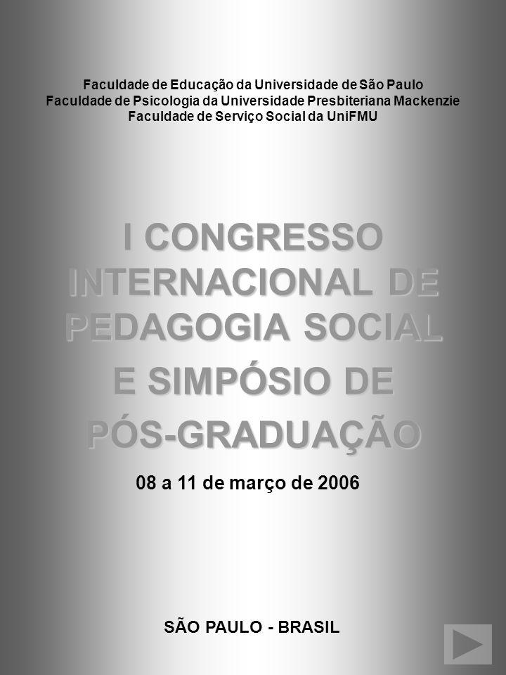 I CONGRESSO INTERNACIONAL DE PEDAGOGIA SOCIAL