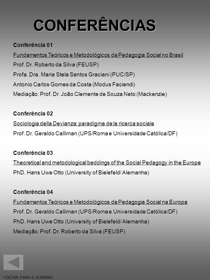 CONFERÊNCIAS Conferência 01