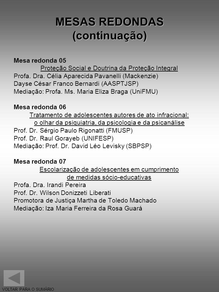 MESAS REDONDAS (continuação)