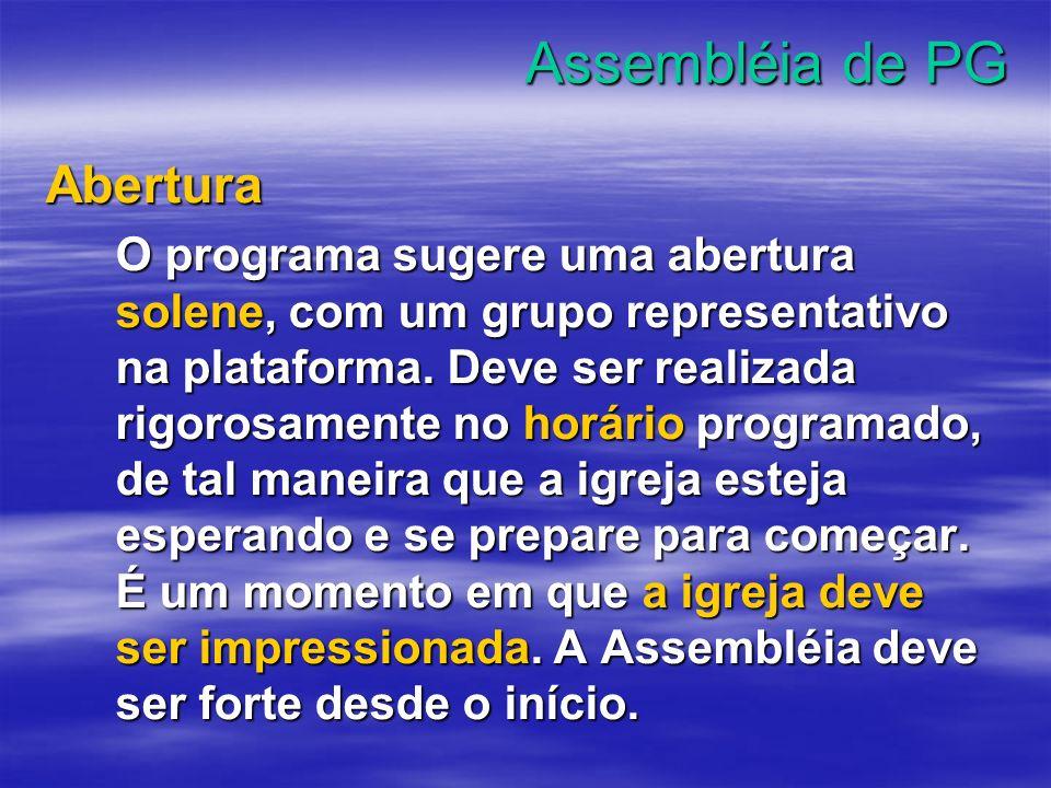 Assembléia de PG Abertura