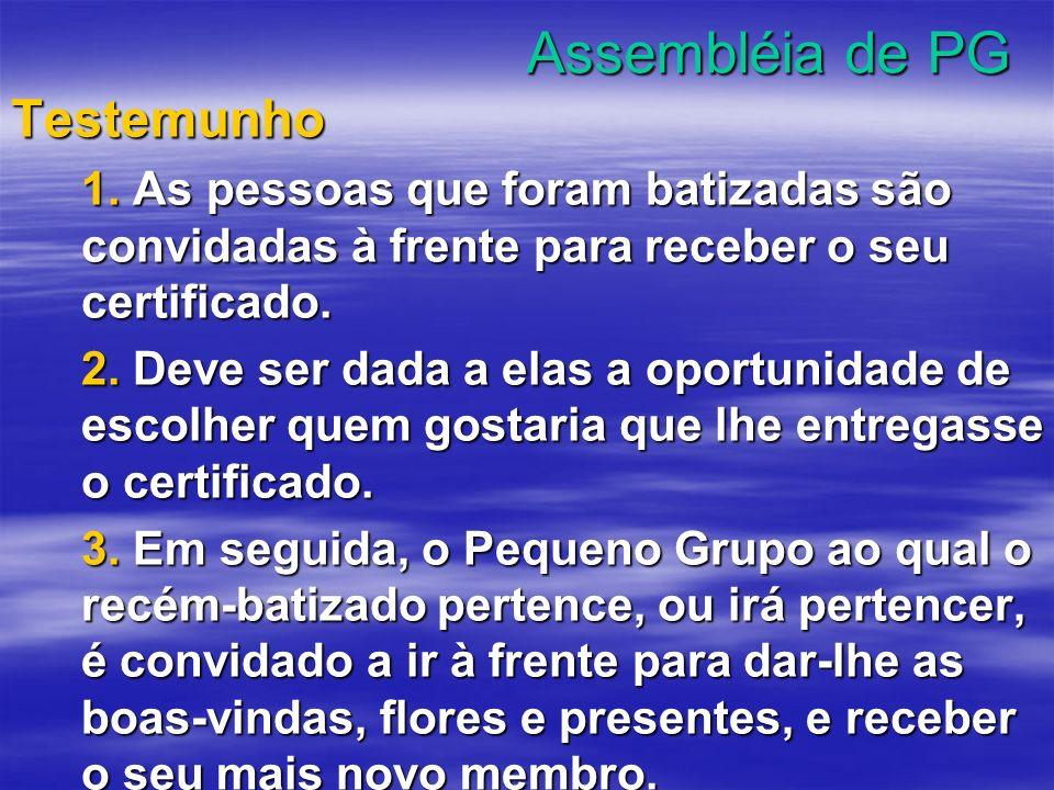 Assembléia de PG Testemunho