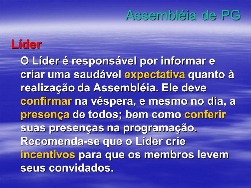 Assembléia de PG Líder.