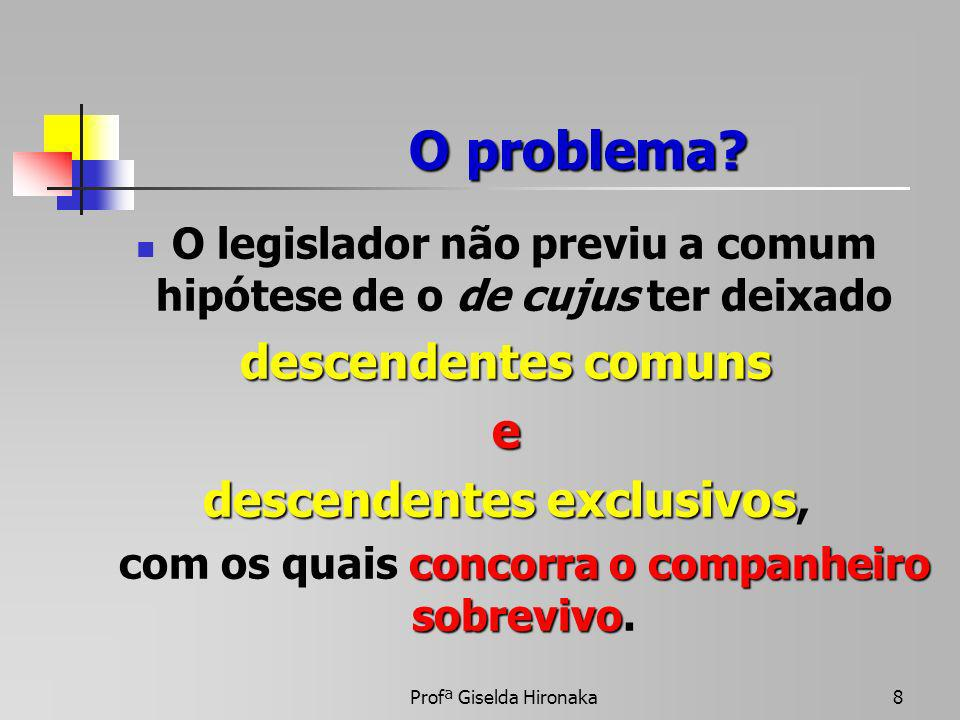 O problema descendentes comuns e descendentes exclusivos,