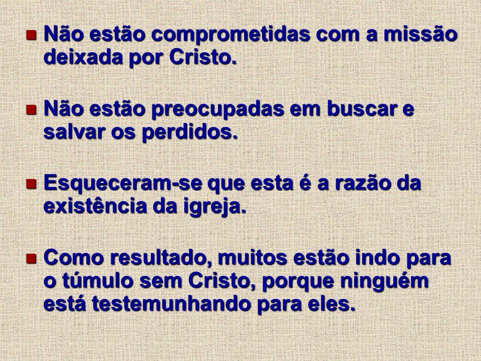 Não estão comprometidas com a missão deixada por Cristo.