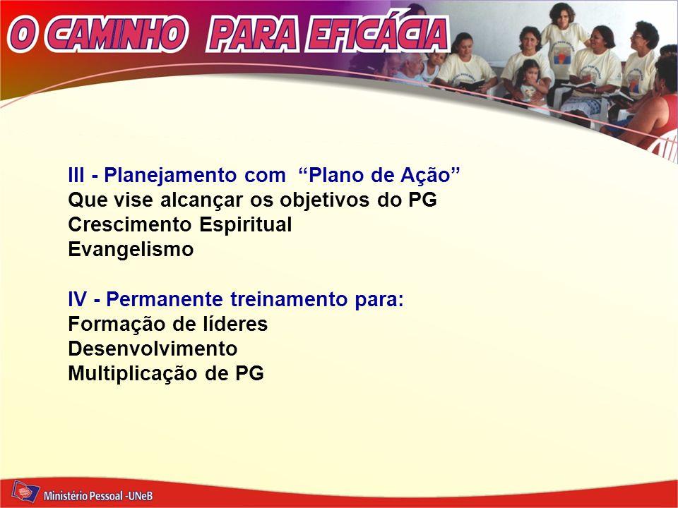 III - Planejamento com Plano de Ação