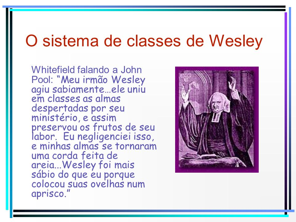 O sistema de classes de Wesley