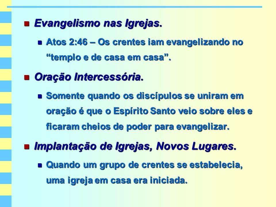 Evangelismo nas Igrejas.