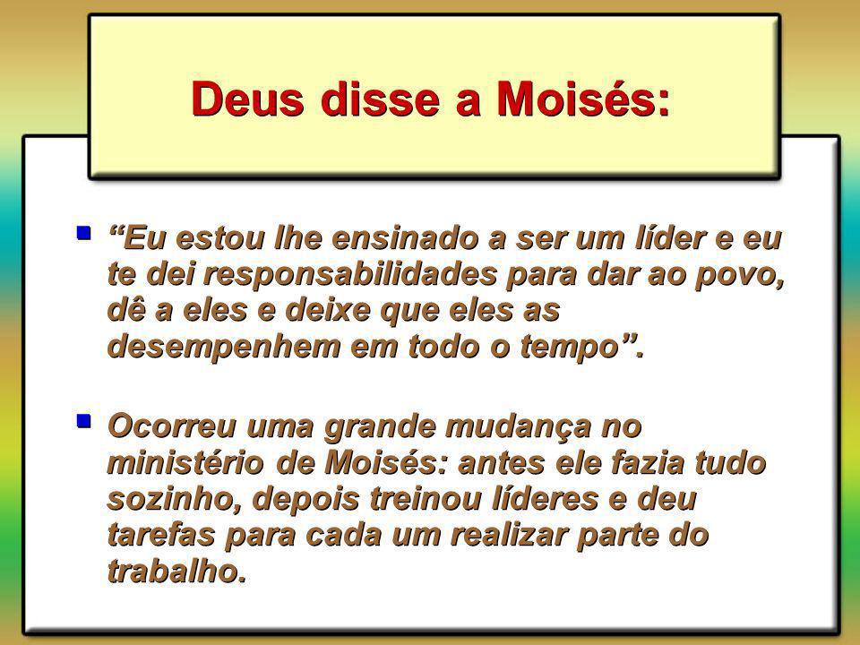 Deus disse a Moisés: