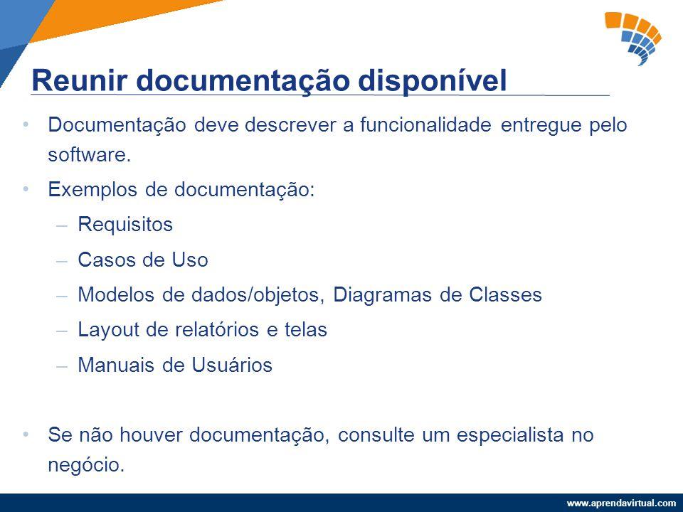 Reunir documentação disponível