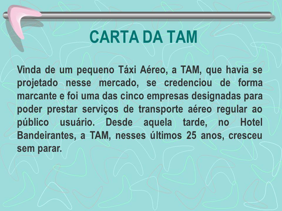 CARTA DA TAM